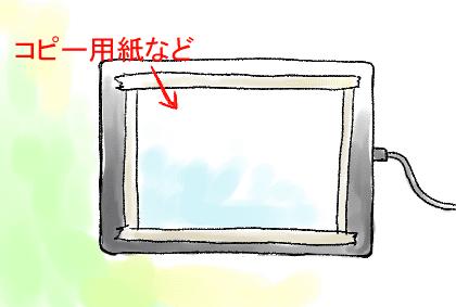 板タブ紙張り