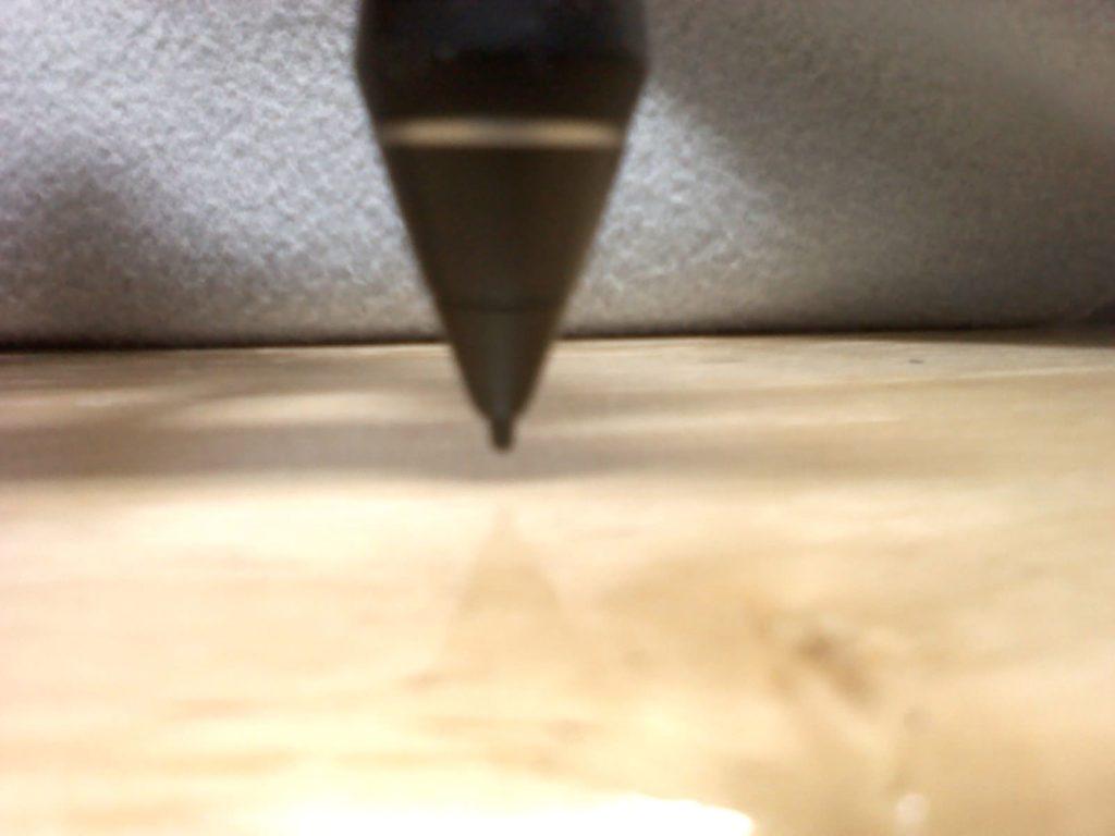 プロペン2ペン先沈み込み写真